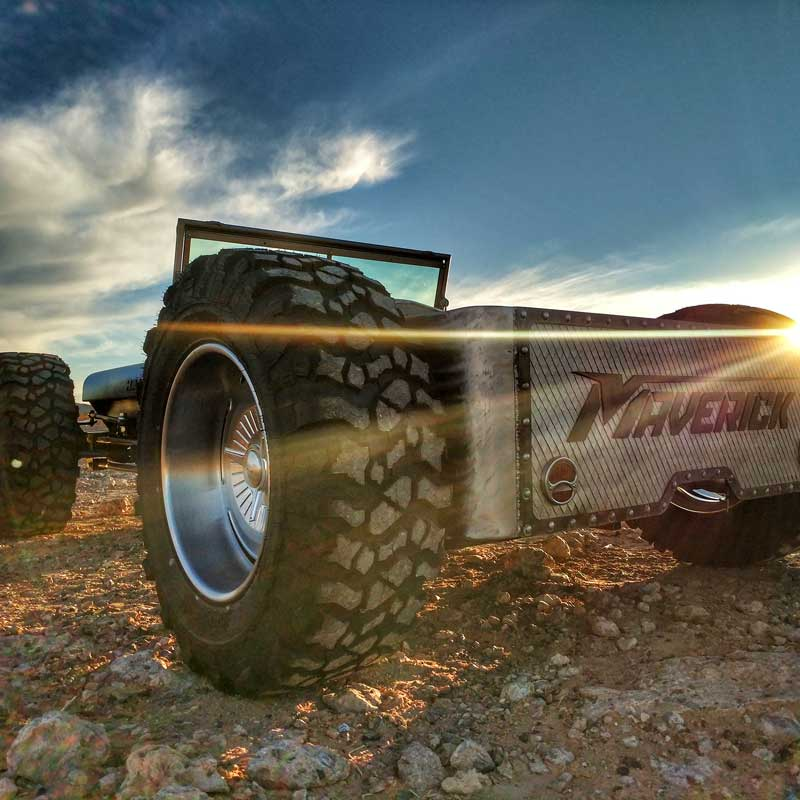 Rat Rod in the Sunset