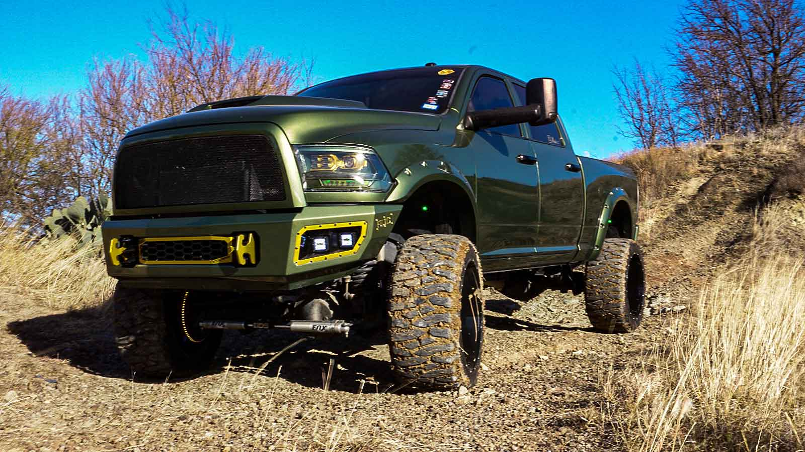Green Dodge RAM 2500